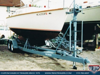Custom Sailboat Trailers 25ft to 30ft | Triad Trailers